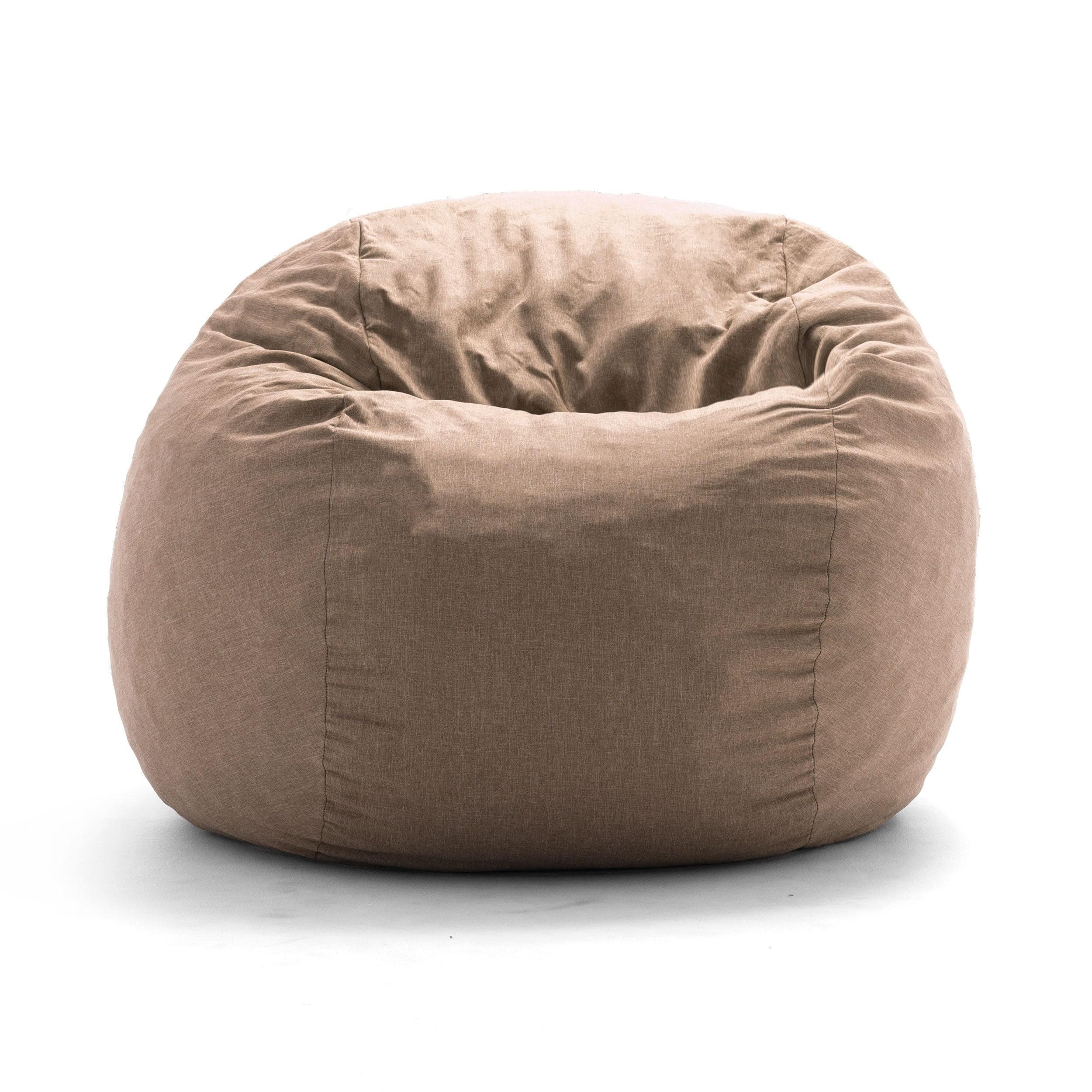 FufSack Big Joe Lux King Linen Memory Foam Bean Bag Chair...