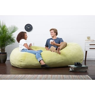 FufSack Big Joe Lux Solid-colored Polyester XL Memory Foam Textured Bean Bag Chair