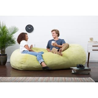 FufSack Big Joe Lux Solid Colored Polyester XL Memory Foam Textured Bean Bag Chair