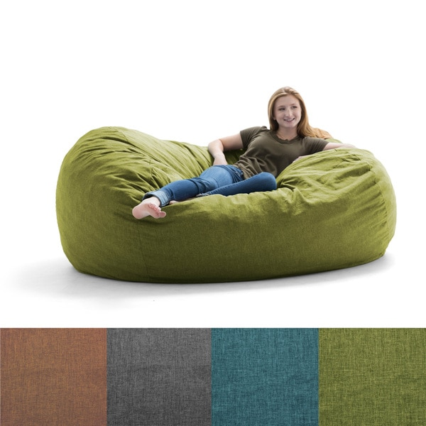 FufSack Big Joe Lux Solid Colore Polyester Memory Foam Bean Bag Chair