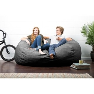 FufSack Big Joe Lux Solid-colore Polyester Memory Foam Bean Bag Chair
