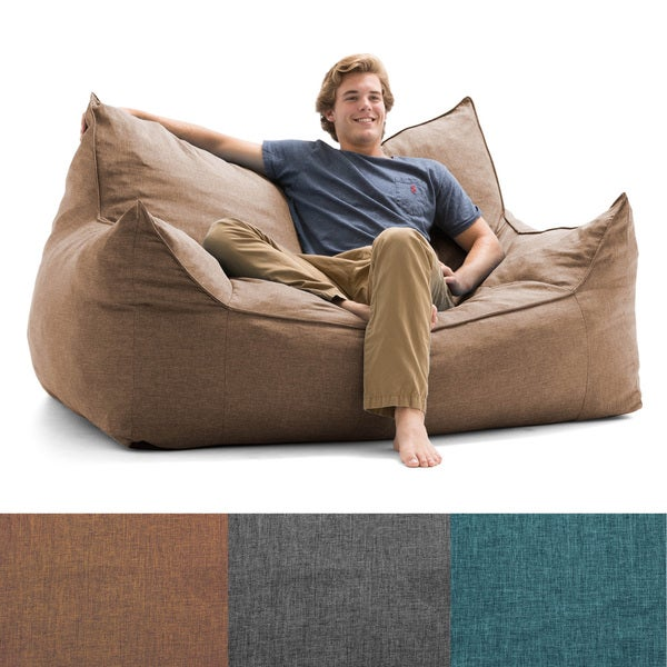 Big Joe Lux Imperial Fuf Ton Bean Bag Loveseat
