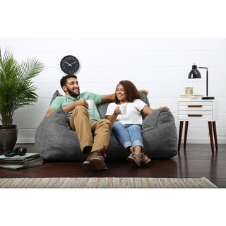 Big Joe Lux Imperial Fuf-ton Bean Bag Loveseat