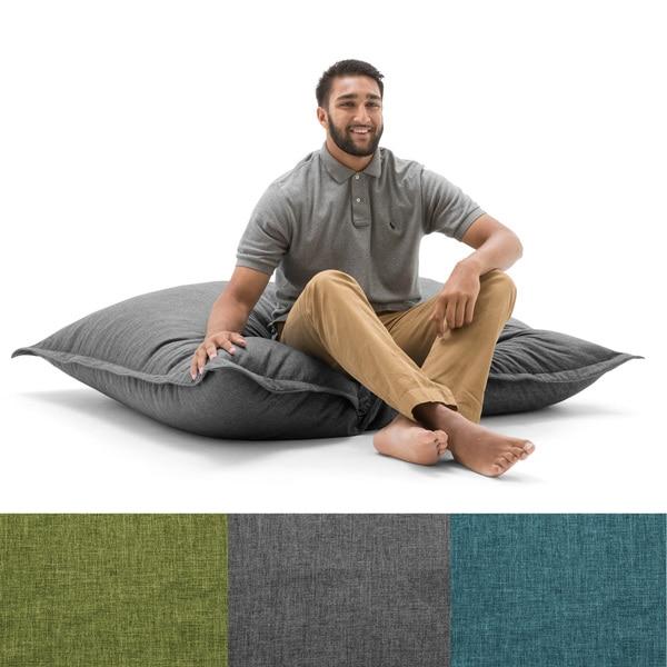Big Joe Floor Pillows : BeanSack Big Joe Lux Polyester Large Floor Pillow Bean Bag - Free Shipping Today - Overstock.com ...