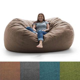 FufSack Big Joe Lux XXL Linen Memory Foam Bean Bag Chair