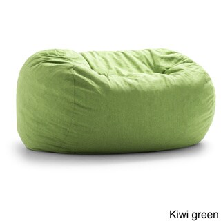 FufSack Big Joe Lux XXL Linen Memory Foam Bean Bag Chair