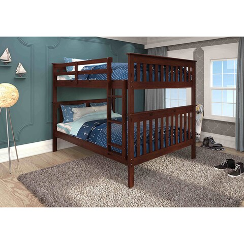 Donco Kids Brown Wood Full-over-Full Bunk Bed