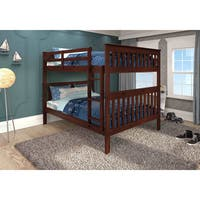 Donco kids mission full bunk bed and optional storage for Furniture of america pello full over full slatted bunk bed