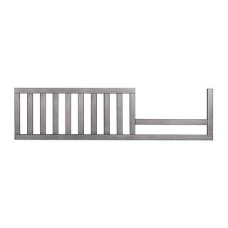Evolur Convertible Crib Grey Wood Toddler Guard Rail