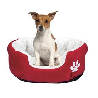 Pet Nest Red Cotton/ Fleece/ Polyester Cushion