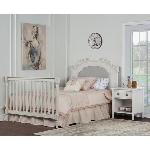 Shop Evolur Universal Cream Wooden Convertible Crib Full Size Bed