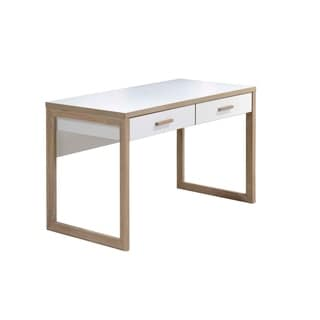 Intercon Studio Living White and Honey Writing Desk
