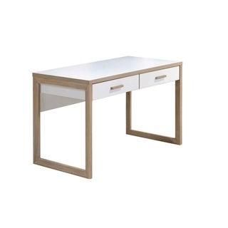 Studio Living White and Honey Writing Desk