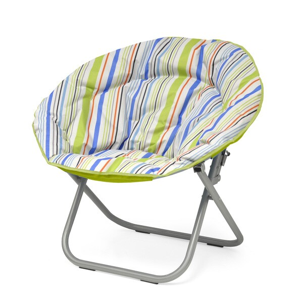 Shop Urban Shop Surfer Stripe Saucer Papasan Chair On