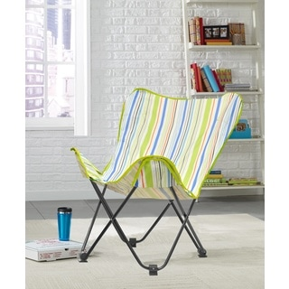 Urban Shop Surfer Stripe Mluticolor Polyester-blend Butterfly Lounge Chair