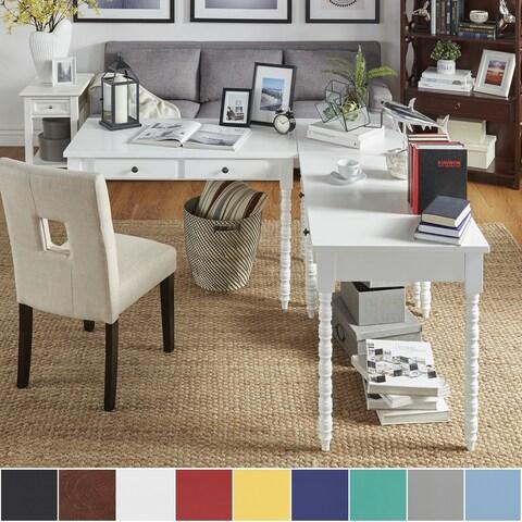 Lyndale L-Shaped Helix Legs Corner Office Desk by iNSPIRE Q Bold