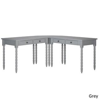 Lyndale L-Shaped Helix Legs Corner Office Desk by iNSPIRE Q Bold (Option: Grey Desk)