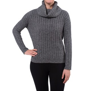 Premise Cashmere Women's Marled Cowl Neck Cashmere Sweater