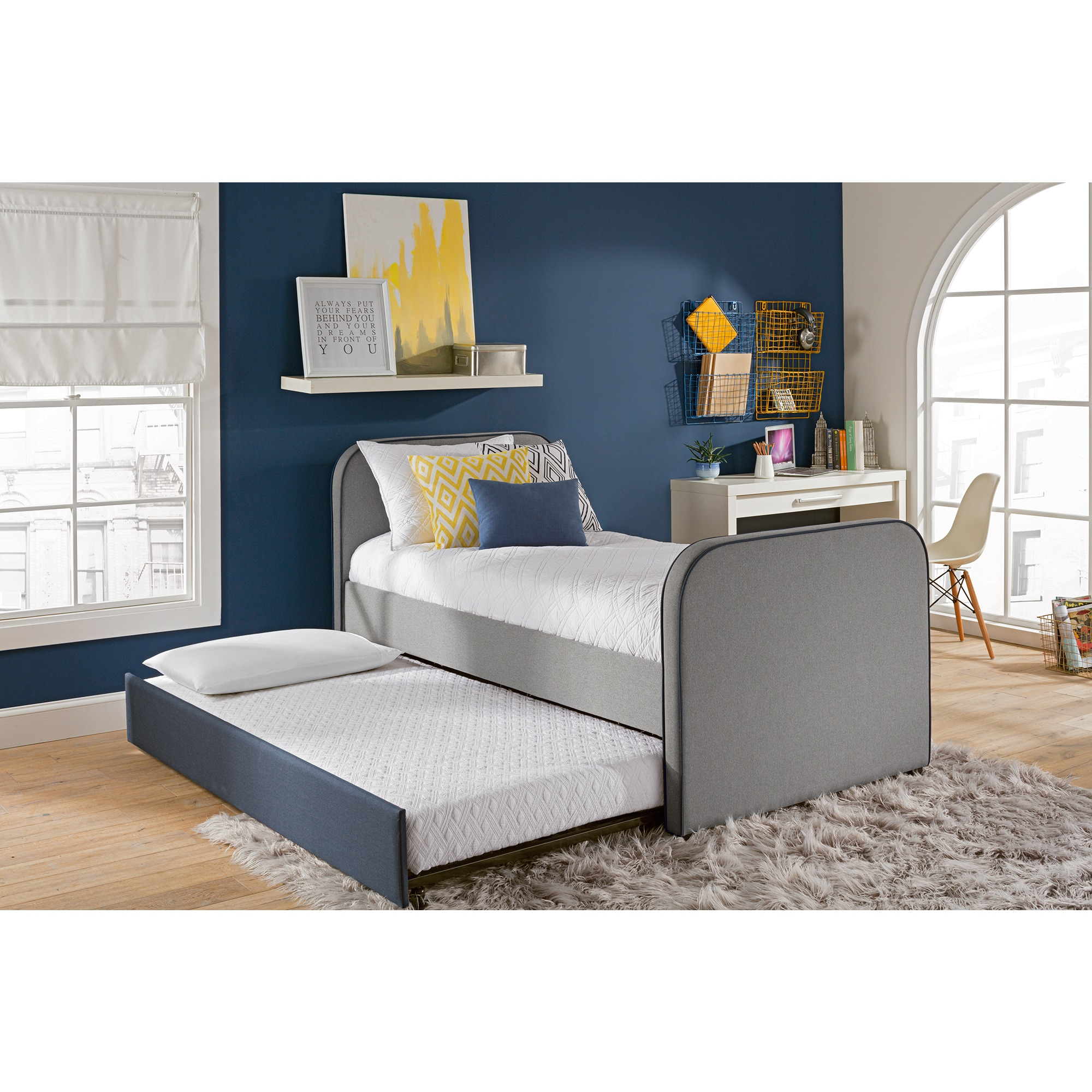 DHP Jesse Twin Bed with Trundle (Twin bed with trundle, g...
