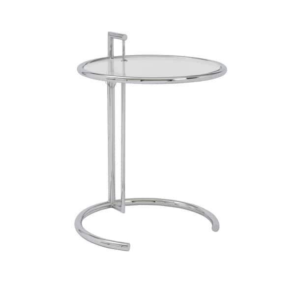 Euro Style Eileen Chrome Base Clear Gl Top Round