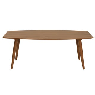 Euro Style Beckett American Walnut Veneer Wood Rectangle Coffee Table