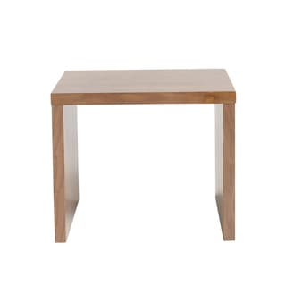Euro Style Abby Square Walnut Side Table