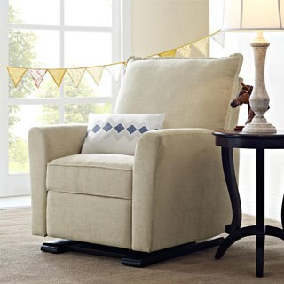Avenue Greene Baby Relax Raleigh Fabric/Wood Gliding Recliner