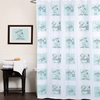 "Fun Bath Time Print Fabric Shower Curtain (70""x72"")"
