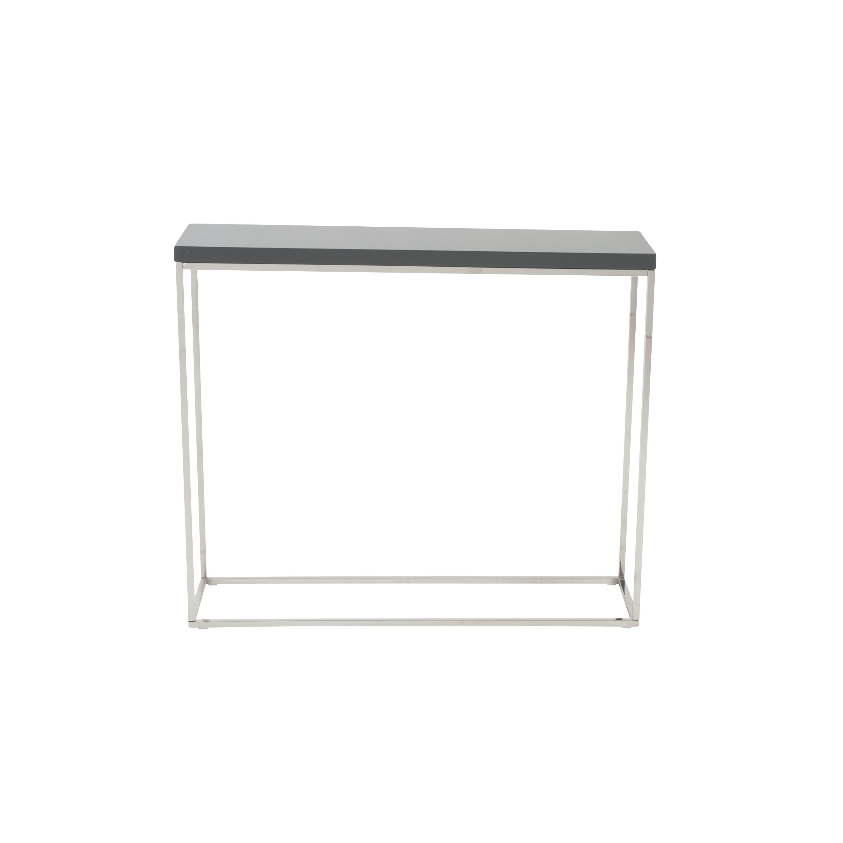 Polished Stainless Steel Console Table