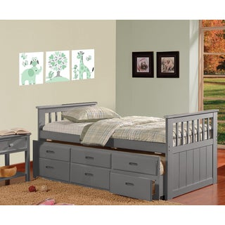 Benny Grey Three-drawer Trundle Bed