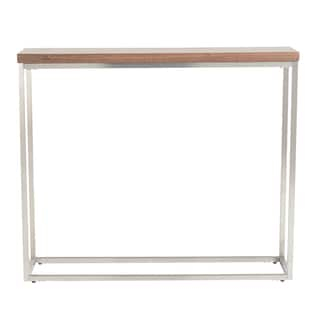 Teresa Walnut-finished Steel/Veneer/MDF Console Table