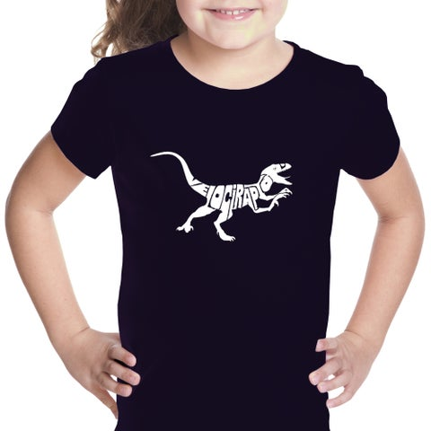 Los Angeles Pop Art Girl's Cotton Velociraptor T-shirt