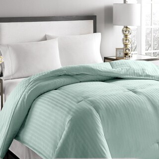 Microfiber Striped Hypoallergenic Down Comforter (More options available)