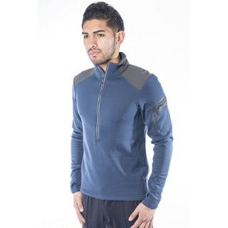Spiral Men's Polartec Powerstretch Fleece 1/4-Zip Pullover (Option: Orange)