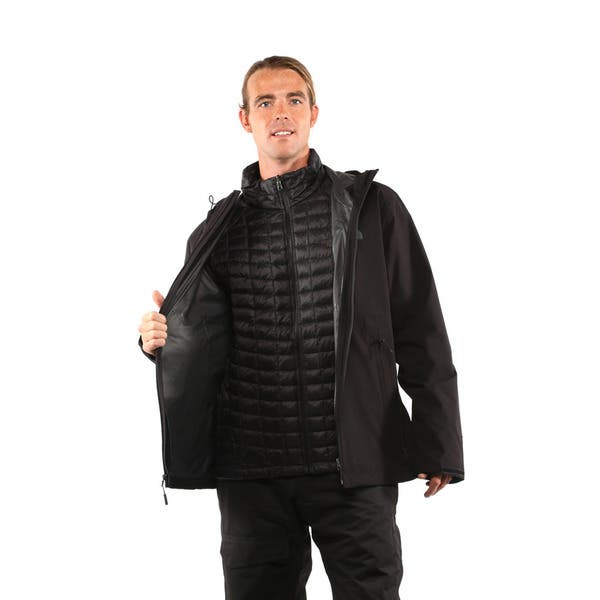 Shop The North Face Mens Tnf Black Thermoball Triclimate