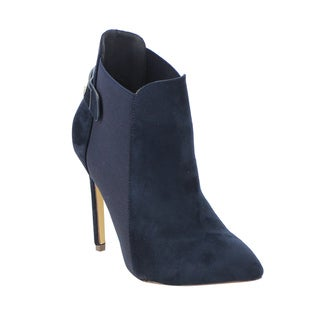 LILIANA Women's GF13 Elastic Panel Pointy Toe Stiletto Heel Ankle Booties