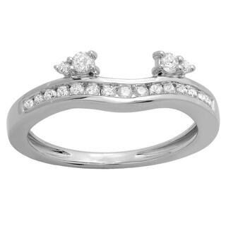 Elora 10k White or Yellow Gold 2/5ct TDW Diamond Anniversary Wedding Enhancer Guard (H-I, I1-I2)