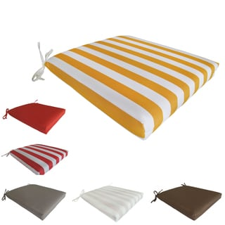 Corvus Naples Outdoor/ Indoor Chair Seat Cushions (Set of 2)