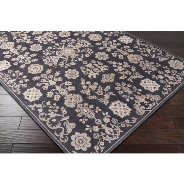 Trux ton Transitional New Zealand Wool & Nylon Blend Area Rug (2' x 2'9)