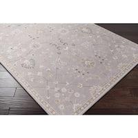 "Copper Grove Hassana Soft Grey Formal New Zealand Wool & Nylon Blend Area Rug - 5'3"" x 7'6"""