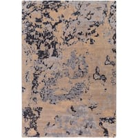 Vendome Abstract New Zealand Wool & Nylon Blend Area Rug (5'3 x 7'6)