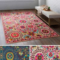 The Curated Nomad Brunswick Floral Geometric Area Rug (5'3 x 7'6)