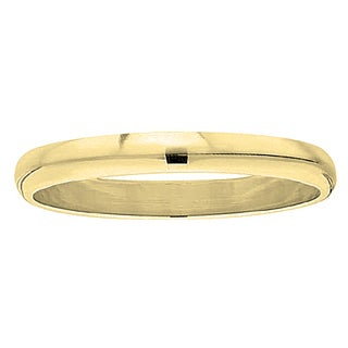 Elora 10k Gold Men's Polished Traditional Fit Wedding Band