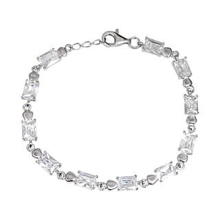 Orchid Jewelry 925 Sterling Silver Cubic Zirconia Bracelet