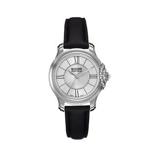 Bulova Accu-Swiss Women's 63R142 Stainless Steel Swiss Made Diamond Accent Watch