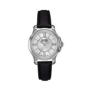 Bulova Accu-Swiss Women's 63R142 Stainless Steel Swiss Made Diamond Accent Watch|https://ak1.ostkcdn.com/images/products/12994825/P19740887.jpg?impolicy=medium
