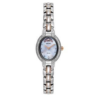 Seiko Women's SUP327 Misty Copeland Limited Edition Stainless Steel and Diamond Solar Watch