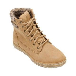 Women's Cliffs by White Mountain Karissa Double Cuffed Hiker Boot Wheat Distressed Textile/Dark Natural Sweater