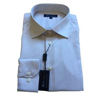 Blu by Polifroni Men's Grey Cotton Dress Shirt