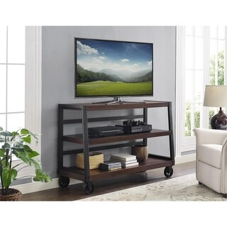 Novogratz Southampton Wood Veneer TV Console for TV's up to 55-inches - n/a
